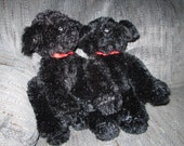 Black Labrador Puppy for Sale With Music Box Movement Inside, 8 inch  - Plush Stuffed Animal  - Your Choice of Song - Dog Lab