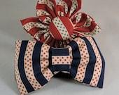Dog Flower, Dog Bow Tie, Cat Flower, Cat Bow Tie- Americana