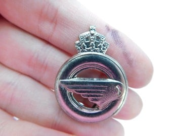 One Vintage Crown and Wing Royal Air Force? Military Badge Die Cast Mold used to Make The Insignia Box FDGS