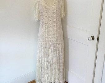 Vintage lace 1920s style dress
