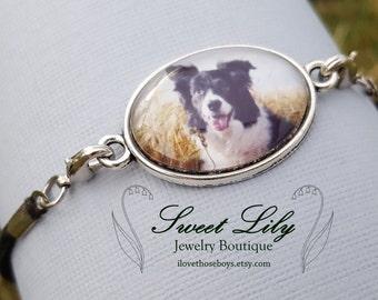 Oval Custom Photo Bracelet