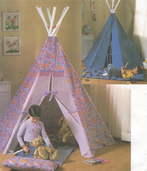 kinder tipi und matte indoor tipi f r kinder butterick n hen. Black Bedroom Furniture Sets. Home Design Ideas