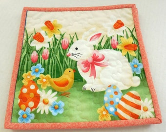 Easter Mug Rugs/Decor Mats: Set of 2 -Free Shipping to US and Canada