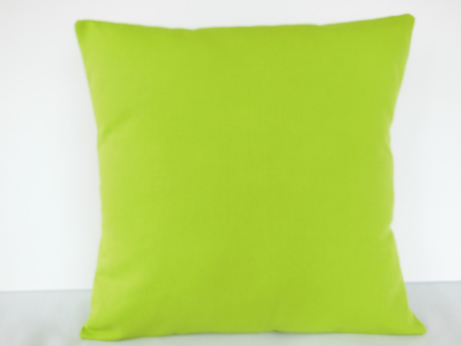 Throw Pillow Lime Green : Lime Green Throw Pillow COVER Solid Lime Couch Pillow Bedding