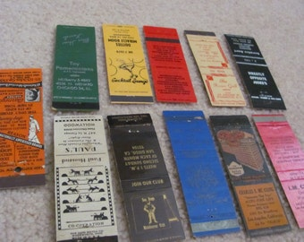 Lot of 11 Assorted Vintage Antique Older Matchbook Matches Covers (#9)