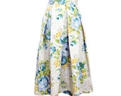 Rose Floral Pleated Full Midi Skirt Size Extra Small Size 2 Ready to Ship