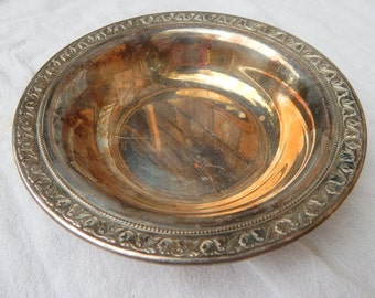 Vintage Silver Plated Bowl,  Silver Cottage Chic Bowl
