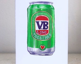 VB long together - beer lovers Valentine's day card