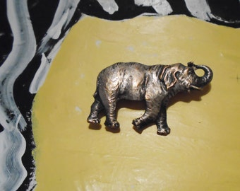 Lucky Charm Elephant Pin Brooch 1950s