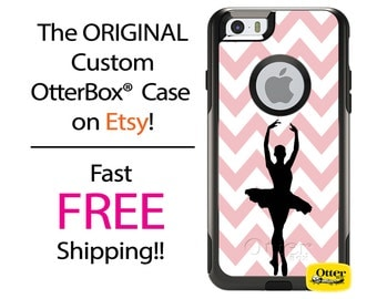 iPhone OtterBox Commuter for iPhone 7, 7 Plus, 6/6s, 6 Plus/6s Plus, 5/5s/SE, 5c Galaxy S7 S6 S5 Note 5 Custom Ballet Ballerina Silhouette