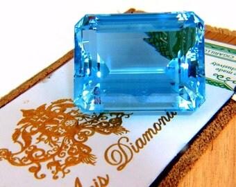 GIA Certified 99.90ct Natural Blue Emerald Cut Aquamarine Magnificent