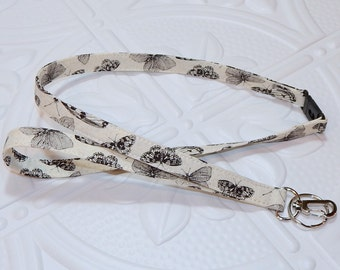 Breakaway Lanyard - Badge Holder - Key Lanyard - Teacher Lanyard - Keychain - Fabric Lanyard - Butterflies