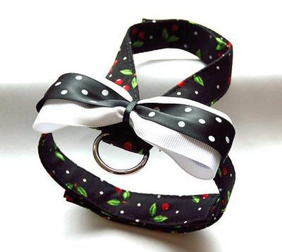 Small dog harness, velcro close Cherry 2