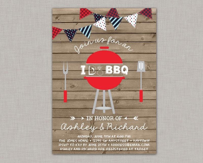Backyard Bbq Wedding Invitations: I Do BBQ Invitation Backyard BBQ Invitation Couples Shower