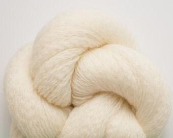 Cream Merino Yarn, Ivory Merino Yarn, Polar Bear Recycled Lace Weight Merino Yarn,  1086 Yards Available
