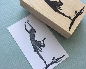 Dancer Wood Mounted Rubber Stamp 4987