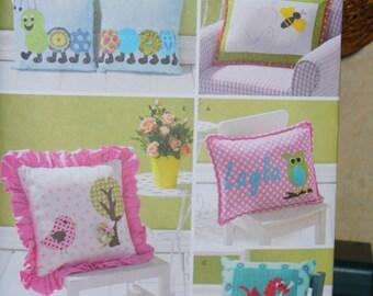 Simplicity 1929 Pillows Pattern, Appliqued Pillows, Childrens Pillows,  Whimsical Pillows, Whimsical Pattern, 5 Different Pillows