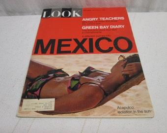 Look Magazine September 1968, Janis Joplin, Kodak, Nuclear Bombs, Mexico, Acapulco, Teacher, vintage advertising