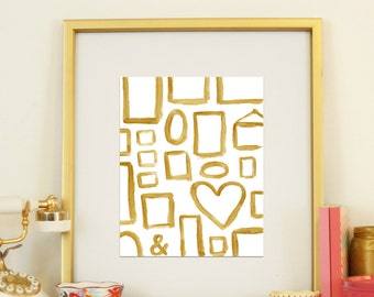 Gold Frames 8x10 Instant Download Art Print Room Decor Wall Art Printable Classic Classy Decoration Painted Frames New Years Decoration
