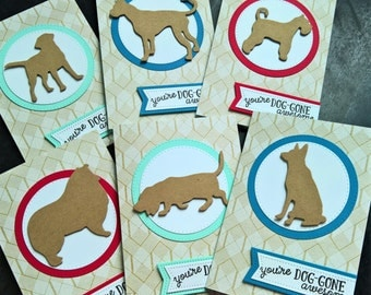 Dog Thank You Notes Set of 6, Dog Lover Cards, Dog Birthday Cards, Pet Sitter Thank You Cards, Dog Lover Gift, Basset Hound, Collie
