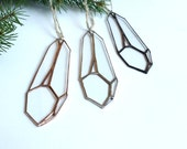 Geometric Christmas Ornaments / Geometric Ornament / Crystal Ornament / Glass Ornament