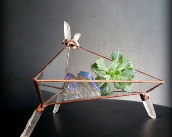 Catch All Tray,  Ring Dish, Jewelry Storage,  Glass Display Box, Crystal Tray, Stained Glass