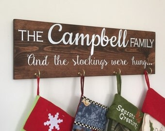 Christmas Stocking Holder - Christmas Wall Decor - Christmas Stocking - Christmas Decor - Personalized Stocking Hanger - Christmas In July
