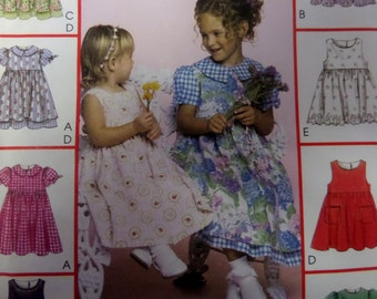 PUFF SLEEVE DRESS Pattern • McCall's 3531 • Toddler 1-3 • Button Dress & Pinafore • Sewing Patterns • Childrens Pattern • WhiletheCatNaps