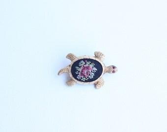 Vintage Turtle Brooch Pin Made in Western Germany