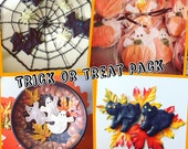 Trick or Treat Dog Treat Pack - 12 Hand Decorated Treats for Doggy Trick or Treaters - Doggy Event - Pet Store Handout - Peanut Butter