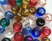 Glass Dread Beads Variety of Colors Dreadlock Hair Beads Clear Blue Red Amber Green Pink 10mm 5mm