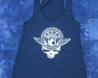 Grateful Dead tank, Womens tank, Golden Road,  Stealy tank top, Screenprinted top, yoga shirt