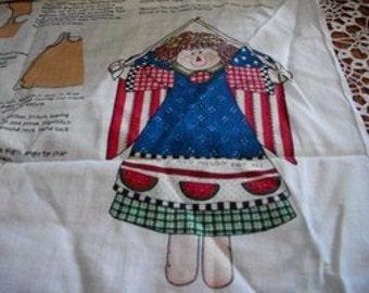 Daisy Kingdom Liberty Angel Doll Fabric Panels