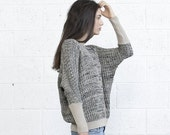 Valentines day Oversized Multi color sweater -Ivory Black
