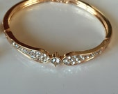 Rose gold bracelet perfect for bridal jewelry rose gold and crystals