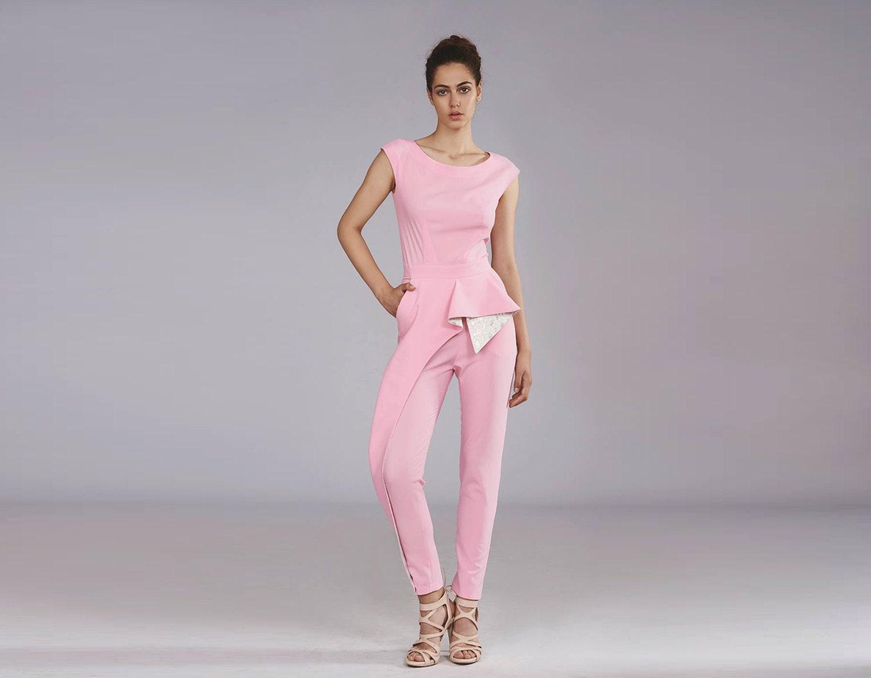 white pink jumpsuit custom jumpsuit bridal jumpsuit modern. Black Bedroom Furniture Sets. Home Design Ideas
