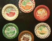 Vintage Milk Bottle Cap Magnets