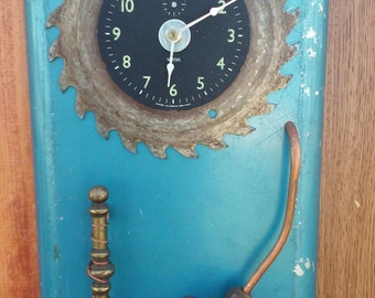 Steampunk Wall Clock, Made With Recycled Parts