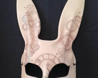 Handmade rabbit mask ( steam punk)