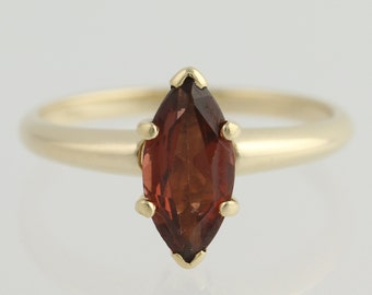 Garnet Solitaire Ring - 14k Yellow Gold 5 1/2 January Birthstone 1.20ctw L8637
