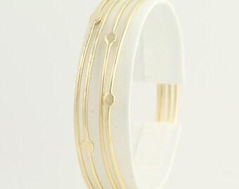"""Set of Four Bangle Bracelets 7 1/4"""" - 14k Yellow Gold Women's L9618"""