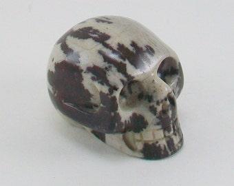 Jasper Natural Stone Skull
