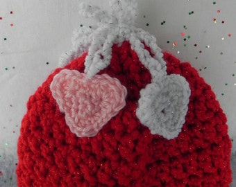 Red Heart Newborn Hat INVENTORY REDUCTION SALE Ready to Ship