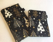 Fabric Fauxdori - Travelers Notebook - SHADORI - in Chic Trees with Zippered Pocket