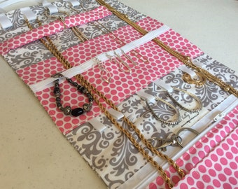 Travel Jewelry Roll - Travel Jewelry Organizer - Personalized Bridesmaid Gift