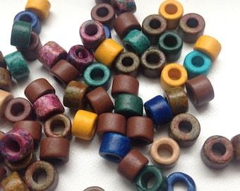 50% Off 60 Mixed Ceramic Beads Mini Tubes Greek Ceramic Beads- 4x6mm C 10 415