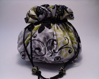 jewelry pouch petals and butterflies