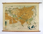 Philips Map Series,  Asia Climate Vintage Chart