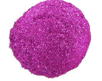 Fuchsia SOLVENT RESISTANT Glitter 0.015 Hex  - 1 Fl. Ounce for Glitter Nail Art, Glitter Nail Polish & Glitter Crafts