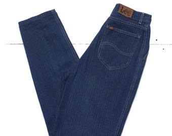 27-28 | Engineer Stripe High Waist Mom Jeans by Lee Riders